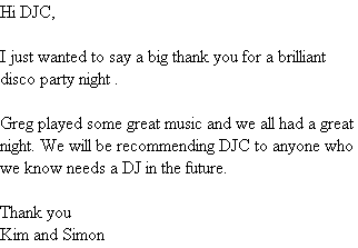 Hi DJC,